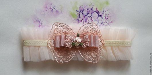 Одежда и аксессуары ручной работы. Ярмарка Мастеров - ручная работа. Купить подвязка для невесты. Handmade. Бежевый, подвязка купить