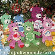Куклы и игрушки ручной работы. Ярмарка Мастеров - ручная работа медвежата с символами на животике. Handmade.
