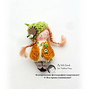 Куклы и игрушки ручной работы. Ярмарка Мастеров - ручная работа ВЕТОЧКА. Миниатюрная кукла. БРОШЬ. Handmade.