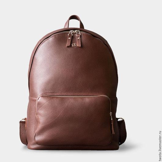 Рюкзаки ручной работы. Ярмарка Мастеров - ручная работа. Купить Francis backpack. Handmade. Коричневый, черная сумка