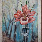 """Картины и панно ручной работы. Ярмарка Мастеров - ручная работа картина """"Зимняя нежность"""". Handmade."""
