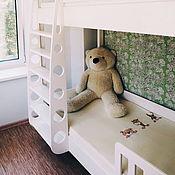 Для дома и интерьера handmade. Livemaster - original item Two-tiered bed made of solid White cedar. Handmade.