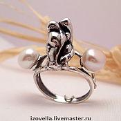"""Кольца ручной работы. Ярмарка Мастеров - ручная работа Кольцо """"Море - мир бездонный...."""" жемчуг, серебро. Handmade."""