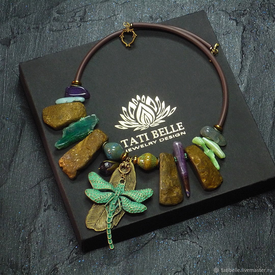 Necklace made of natural stones 'Fleeting', Necklace, Moscow,  Фото №1