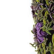 Украшения ручной работы. Ярмарка Мастеров - ручная работа Браслет текстильный с объемной вышивкой Где-то в цветочной долине. Handmade.