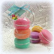 Мыло ручной работы. Ярмарка Мастеров - ручная работа Макаруны 3 штуки в пакетике набор мыла в подарок. Handmade.