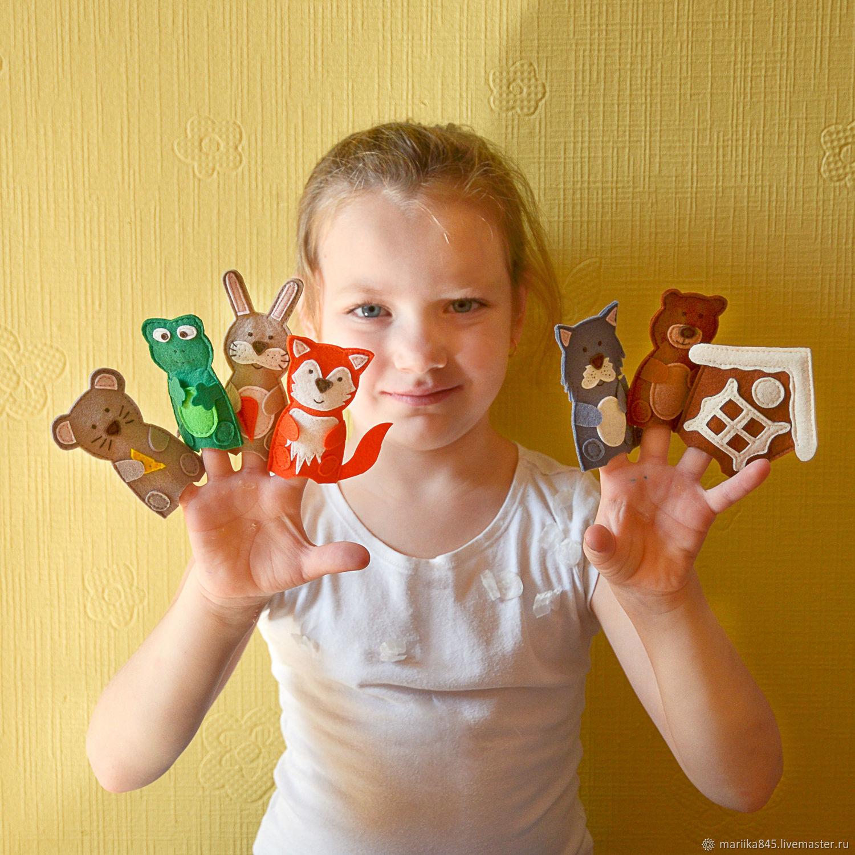 Пальчиковый театр. Сказка Теремок. С магнитами, Куклы, Москва, Фото №1