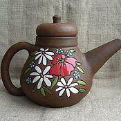 """Посуда ручной работы. Ярмарка Мастеров - ручная работа Чайник """"Лето"""". Handmade."""