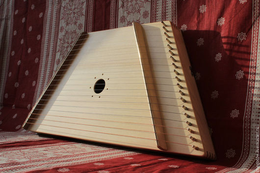 """Струнные инструменты ручной работы. Ярмарка Мастеров - ручная работа. Купить Гусли """"Баюн"""" 19 струн. Handmade. Бежевый, кантеле"""