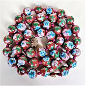 Винтаж handmade. Livemaster - original item Necklace, cloisonne beads China 60-70gg.. Handmade.