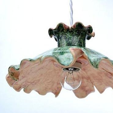 Для дома и интерьера ручной работы. Ярмарка Мастеров - ручная работа Светильник керамический Эльфийский люстра потолочная. Handmade.