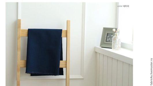 Шитье ручной работы. Ярмарка Мастеров - ручная работа. Купить Однотонный лен темно-синий цвет. Handmade. Лен