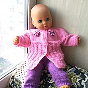 Работы для детей, handmade. Livemaster - original item Knitted set of clothes for girls 2/6 months.(002). Handmade.