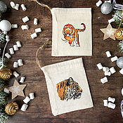 Сувениры и подарки handmade. Livemaster - original item Gift bag Tigers. Handmade.