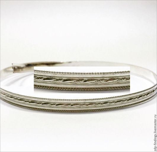 Для украшений ручной работы. Ярмарка Мастеров - ручная работа. Купить 30см Серебряная фигурная лента 5.6мм C000084. Handmade.