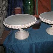 Посуда ручной работы. Ярмарка Мастеров - ручная работа Подставка для торта или творожной пасхи.... Handmade.