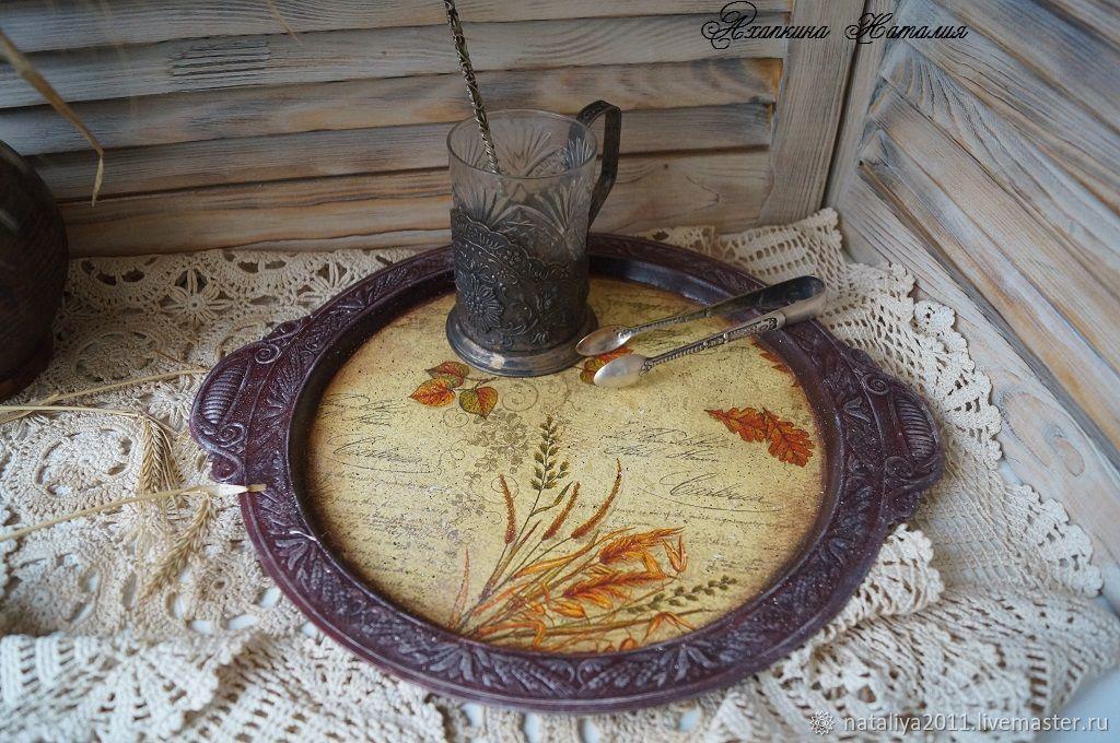 'Autumn motives'-tray, Trays, Moscow,  Фото №1