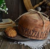 Для дома и интерьера ручной работы. Ярмарка Мастеров - ручная работа «Чаепитие на Испанской лестнице» Хлебница-клош /массив липы/. Handmade.