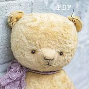 Материалы для творчества handmade. Livemaster - original item OOAK Artists Teddy Bear pattern, pdf pattern teddy bear, pdf pattern. Handmade.