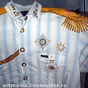 """Одежда ручной работы. Ярмарка Мастеров - ручная работа Рубашка-футболка-пижамка """"Генеральская"""". Handmade."""