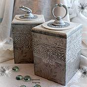 """Для дома и интерьера ручной работы. Ярмарка Мастеров - ручная работа Короба  для хранения  """"  Ажурные фонарики. Шебби"""" 2 предмета. Handmade."""