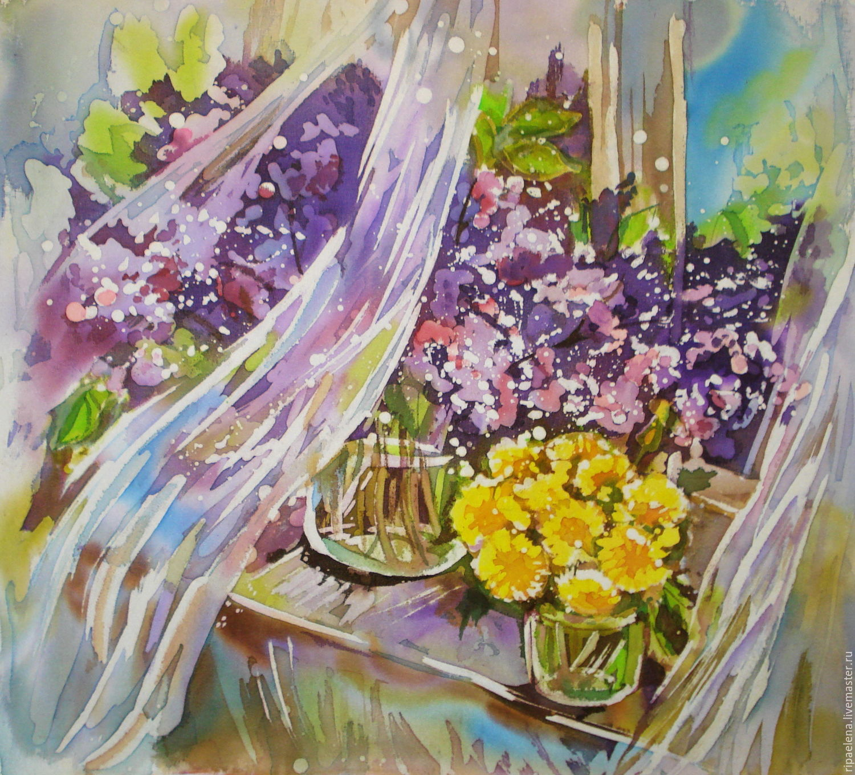 Животные ручной работы. Ярмарка Мастеров - ручная работа. Купить Майские цветы на окне. Handmade. Сирень, окно, радость