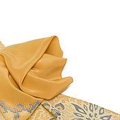 Аксессуары ручной работы. Ярмарка Мастеров - ручная работа Шарфик шёлковый Золотой луч батик. Handmade.