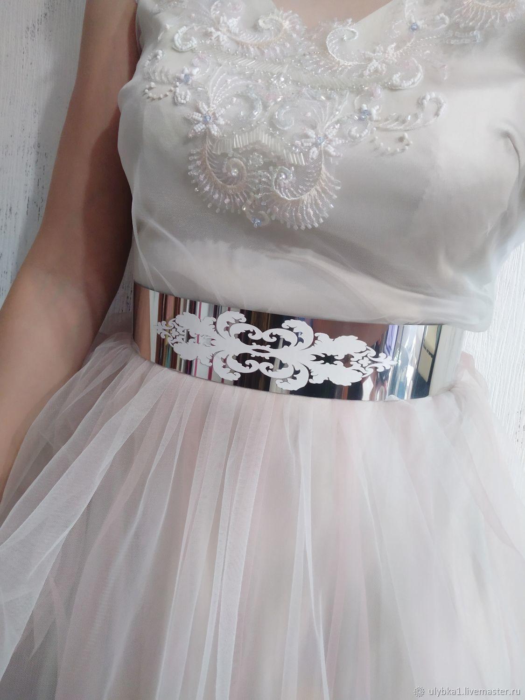 Пояс металлический 6см с росписью ручной работы, Пояса, Москва,  Фото №1
