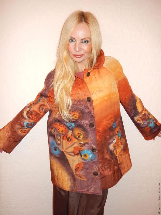 Верхняя одежда ручной работы. Ярмарка Мастеров - ручная работа. Купить курточка-жакет- Карамель. Handmade. Рыжий, весна