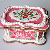 Пряник имбирный Шкатулка Аня. Кулинарный сувенир