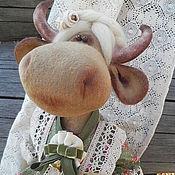 Куклы и игрушки ручной работы. Ярмарка Мастеров - ручная работа Коровка интерьерная Юля. Handmade.