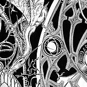 Картины и панно ручной работы. Ярмарка Мастеров - ручная работа роспись стены в жилой мансарде. Handmade.