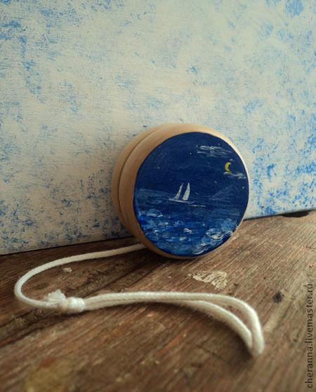 """Развивающие игрушки ручной работы. Ярмарка Мастеров - ручная работа. Купить йо-йо """"Друзья"""". Handmade. Тёмно-синий, море"""