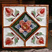 Для дома и интерьера ручной работы. Ярмарка Мастеров - ручная работа изразец Керамика. Handmade.