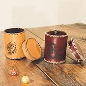 Активный отдых и развлечения handmade. Livemaster - original item Leather Cup for dice. Handmade.