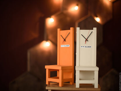 Часы для дома ручной работы. Часы T-T clock настольные. Vladimir Voytan  табурет-часы. Ярмарка Мастеров.