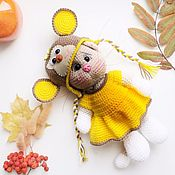Куклы и игрушки handmade. Livemaster - original item Knitted kitty in monkey costume. Handmade.