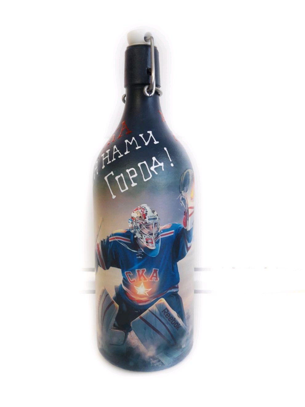 "Подарок фанату хоккея ""СКА"", Бутылки, Санкт-Петербург, Фото №1"