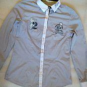 Винтаж handmade. Livemaster - original item Stylish shirt, 100% cotton, brand from Europe. Handmade.