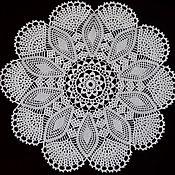 Для дома и интерьера handmade. Livemaster - original item Napkin circular No. №13. Handmade.