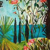 Картины и панно handmade. Livemaster - original item Picture. Roses and Cypresses. Handmade.