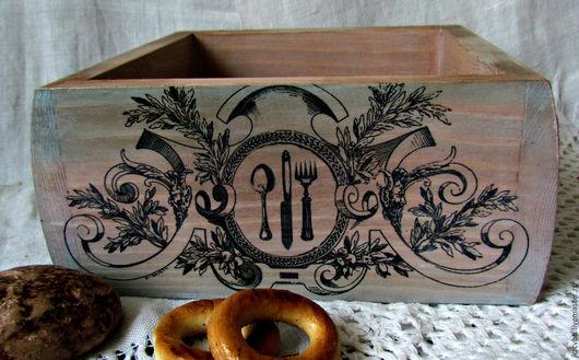 Кухня ручной работы. Ярмарка Мастеров - ручная работа. Купить Короб деревянный для кухни. Handmade. Комбинированный, для кухни, коробка для мелочей