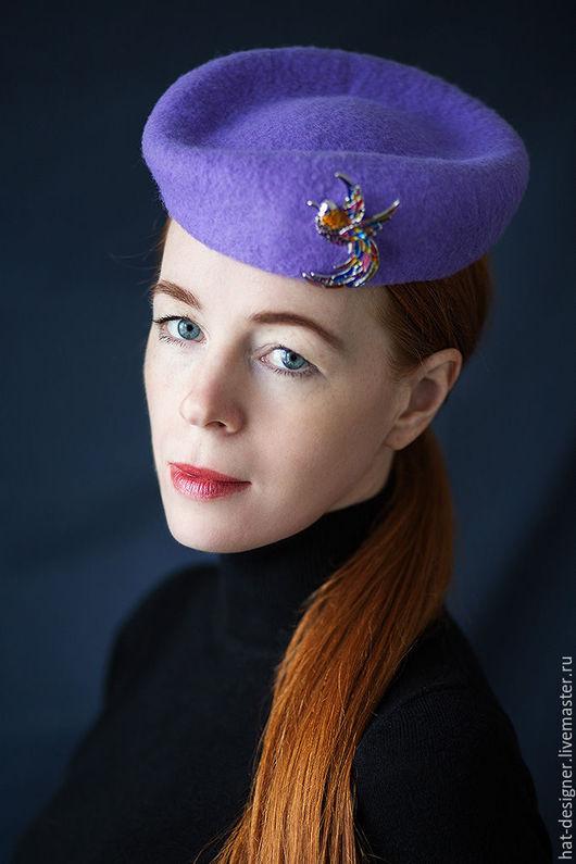 """Шляпы ручной работы. Ярмарка Мастеров - ручная работа. Купить Шляпка таблетка """"Аглая"""" из коллекции """"Леди в цвете"""". Handmade. Шляпка"""