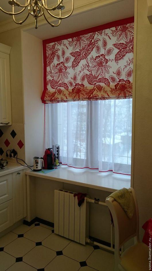 Текстиль, ковры ручной работы. Ярмарка Мастеров - ручная работа. Купить Римские шторы. Handmade. Темно-серый, вискоза