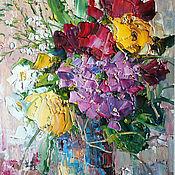 Картины и панно ручной работы. Ярмарка Мастеров - ручная работа Magic bouquet. Handmade.