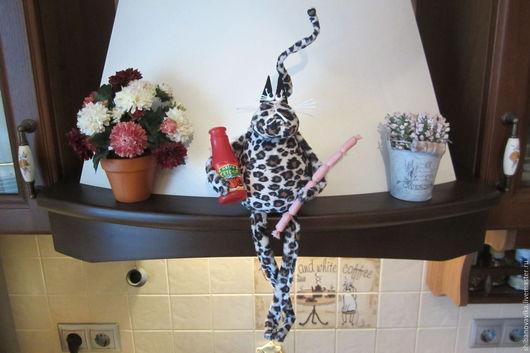 Игрушки животные, ручной работы. Леопардовый кот. Автор Шибанова Виктория. Дизайн-студия авторских игрушек `SamiSrukami`. Ярмарка мастеров.