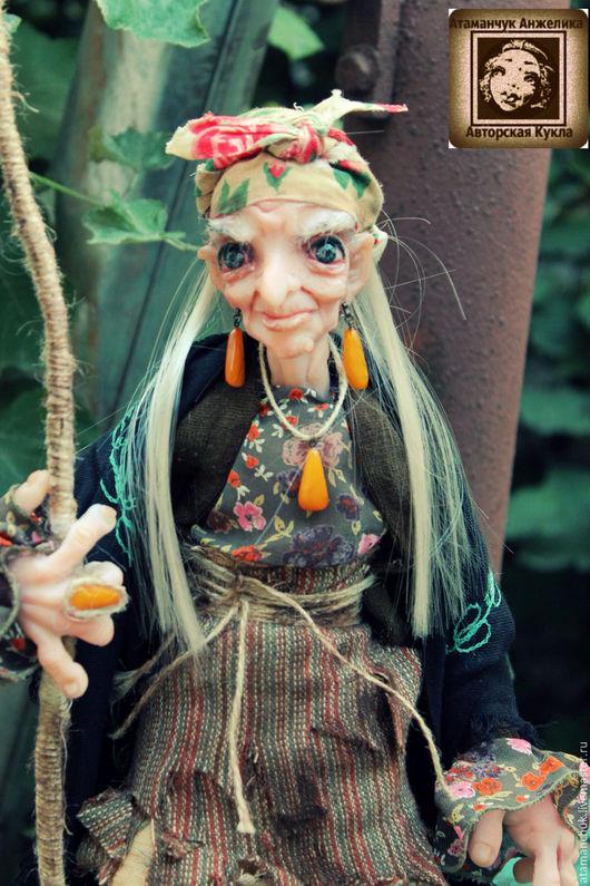 Сказочные персонажи ручной работы. Ярмарка Мастеров - ручная работа. Купить Баба Яга авторская кукла ручной работы  коллекционирования интерьера. Handmade.