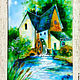 Fabulous little mill, stained glass painting. Pictures. Belasla. My Livemaster. Фото №4