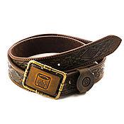 Аксессуары handmade. Livemaster - original item Maya strap with an engraved buckle. Handmade.