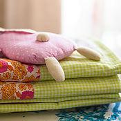 Для дома и интерьера ручной работы. Ярмарка Мастеров - ручная работа Одеяло лоскутное в детскую. Handmade.